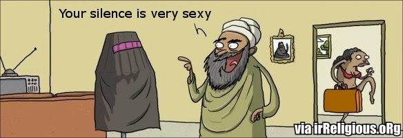 Funny Muslim Woman Burka Silence Escape