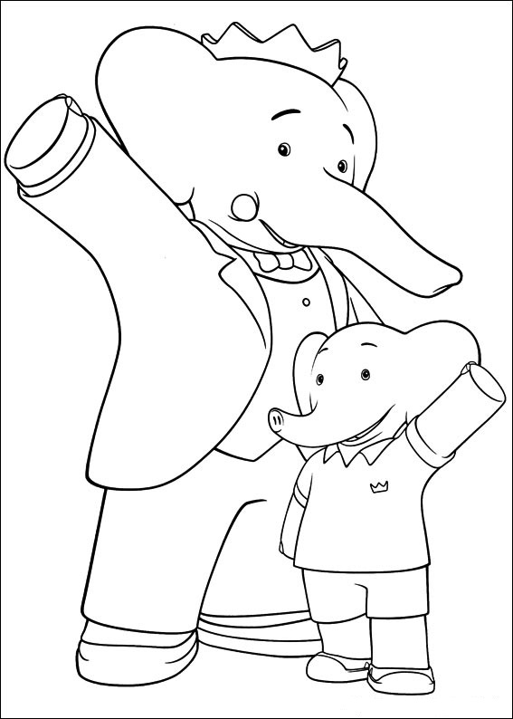 Fun coloring pages babar and the adventure of badou coloring pages - Dessin aventure ...