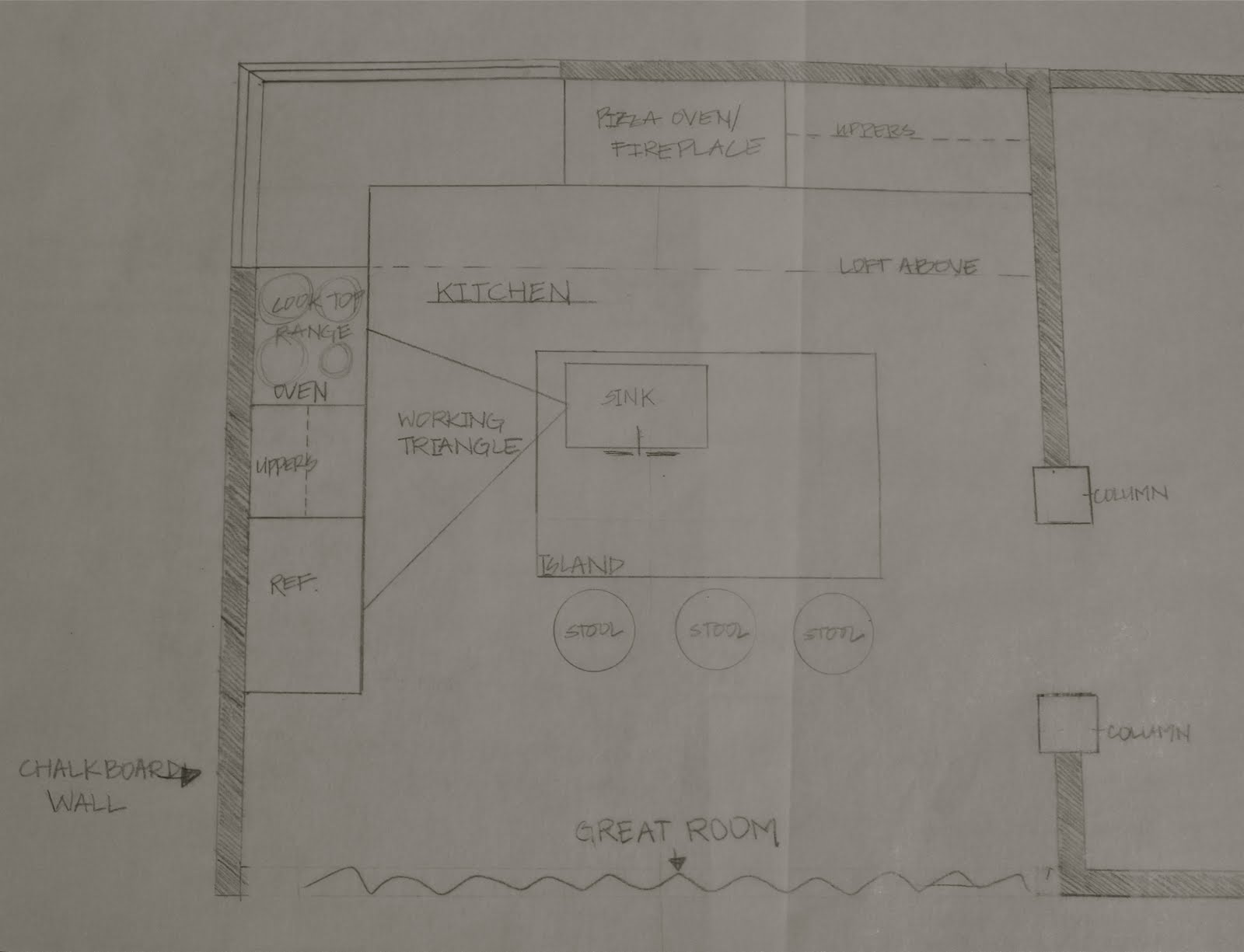 An elevation is just a flat drawing of one wall of the room my elevation is the north wall in the above floor plan
