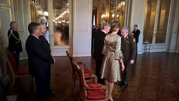 Belgium Royals Attended A New Year Reception Held For NATO-SHAPE