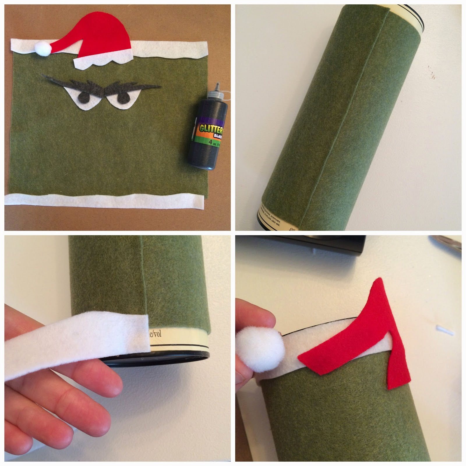 DIY Holiday Money GRINCH Bank - An Upcycle Project, Felt Craft - LeroyLime