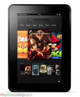 Harga Amazon Kindle Fire HD 7 16, 32GB Tablet Terbaru 2012