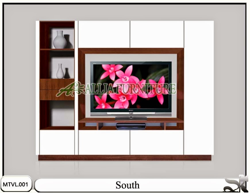 Lemari tv lcd minimalis model south