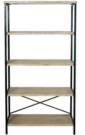 Muebles de forja estanterias de madera y metal serie lample - Estanteria forja ...