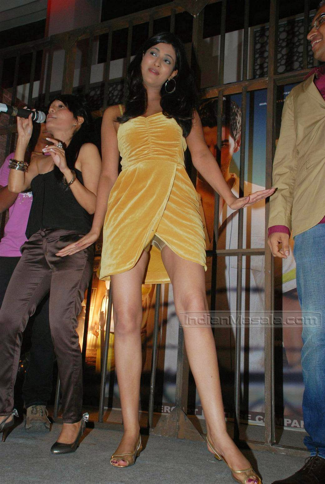 Sayali Bhagat inner shorts visible