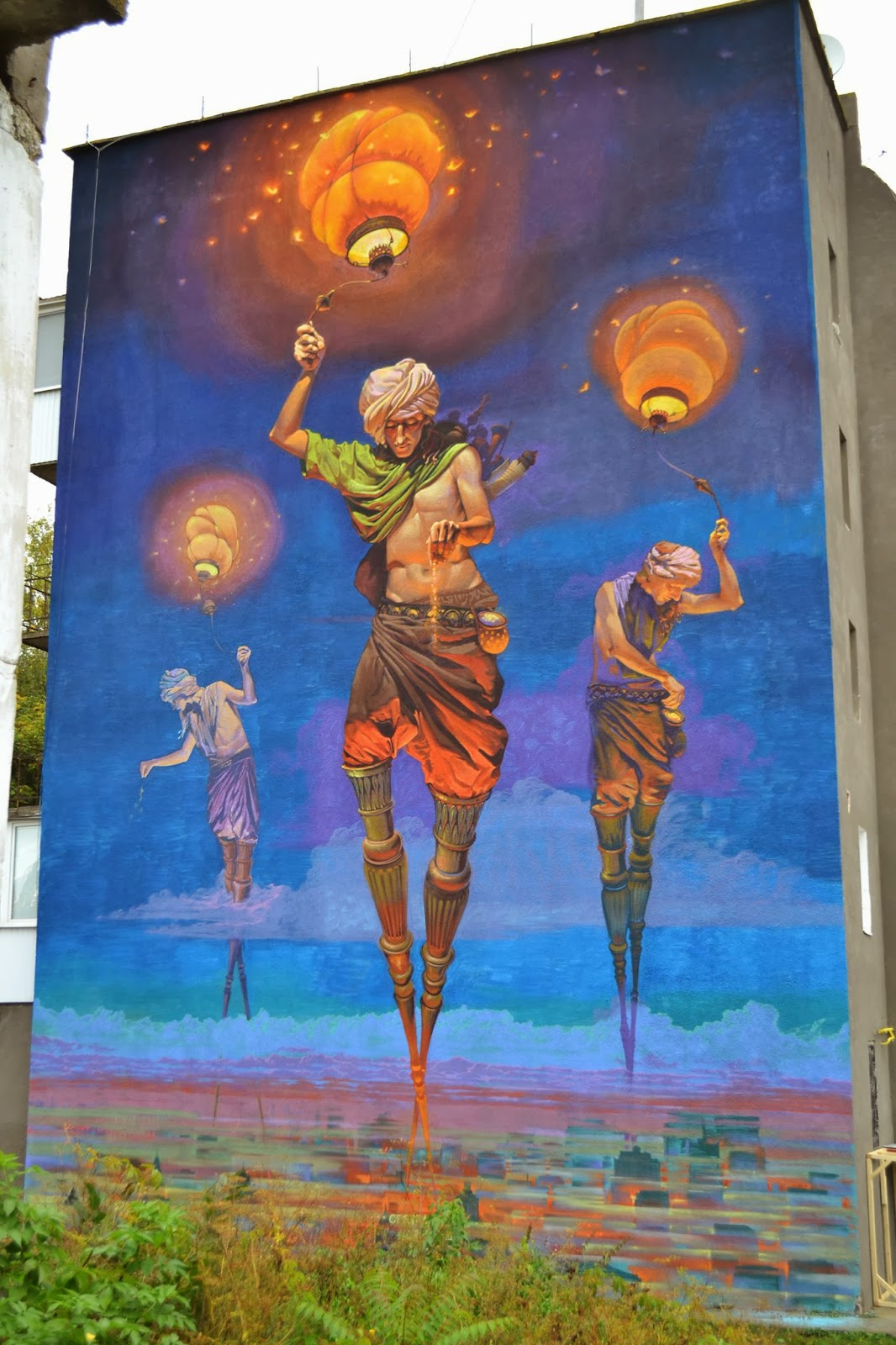 Alexander grebenyuk new mural in kamianets podilskyi for Mural street art