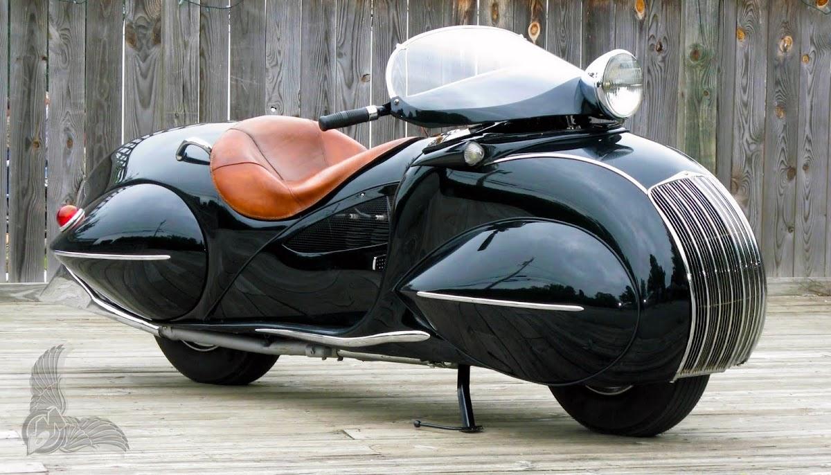custom art deco 1930 henderson motorcycle