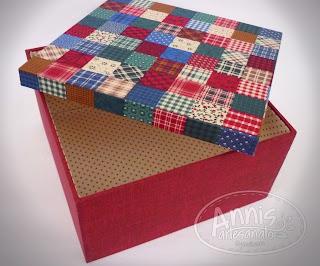 annis artesanato caixa encapada com tecido