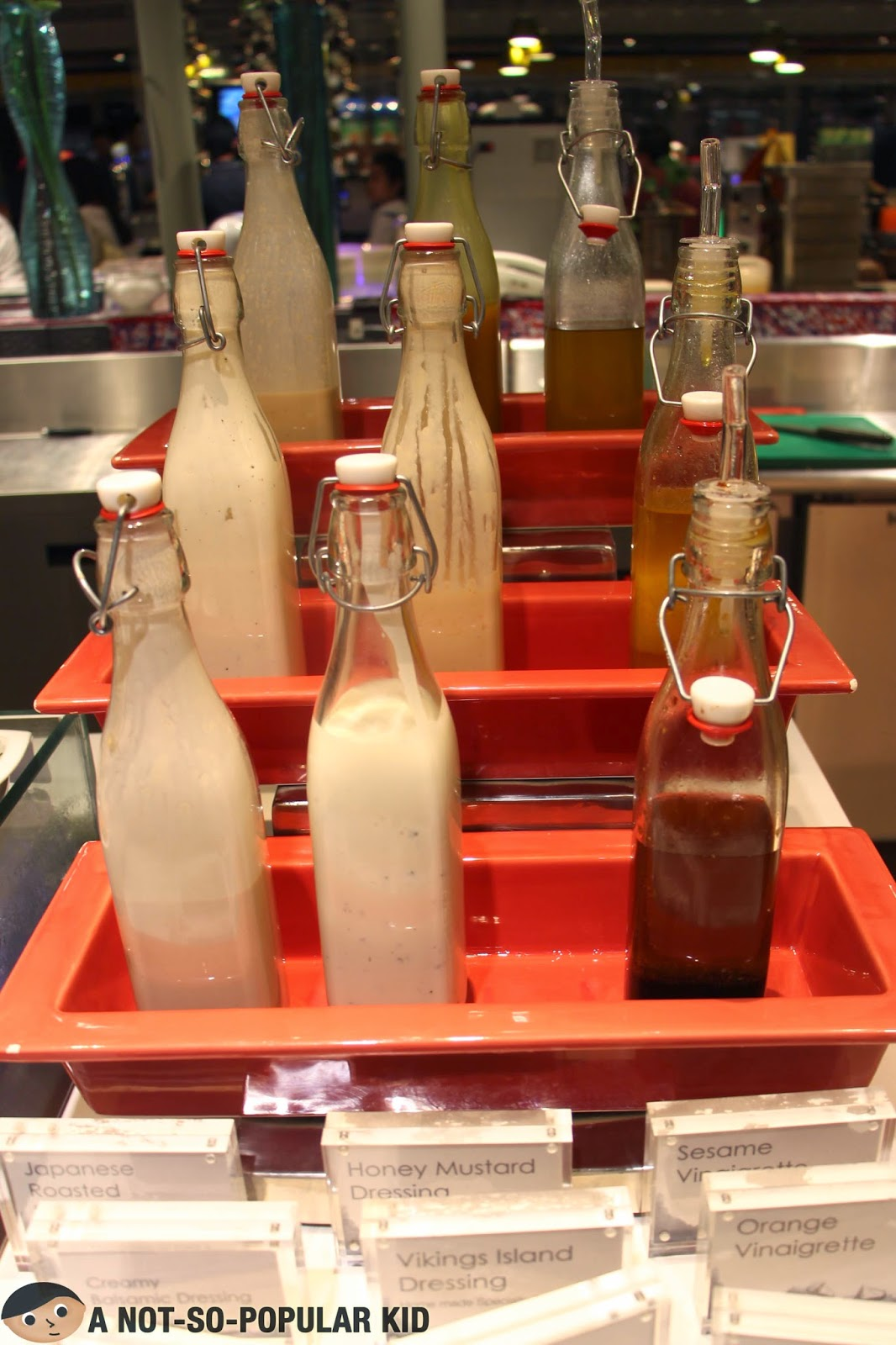 Salad Dressings in Vikings Buffet