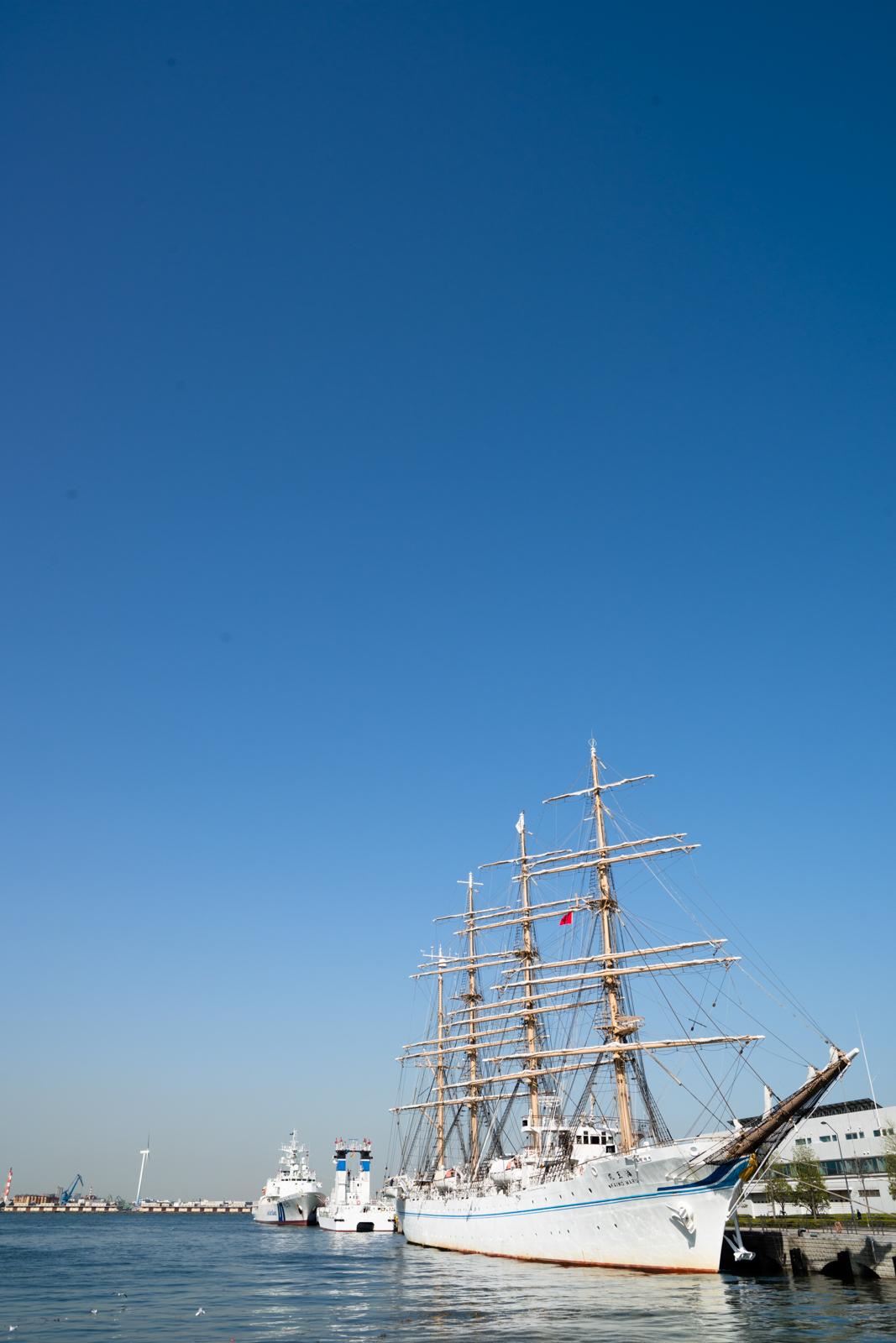 青空と船の写真
