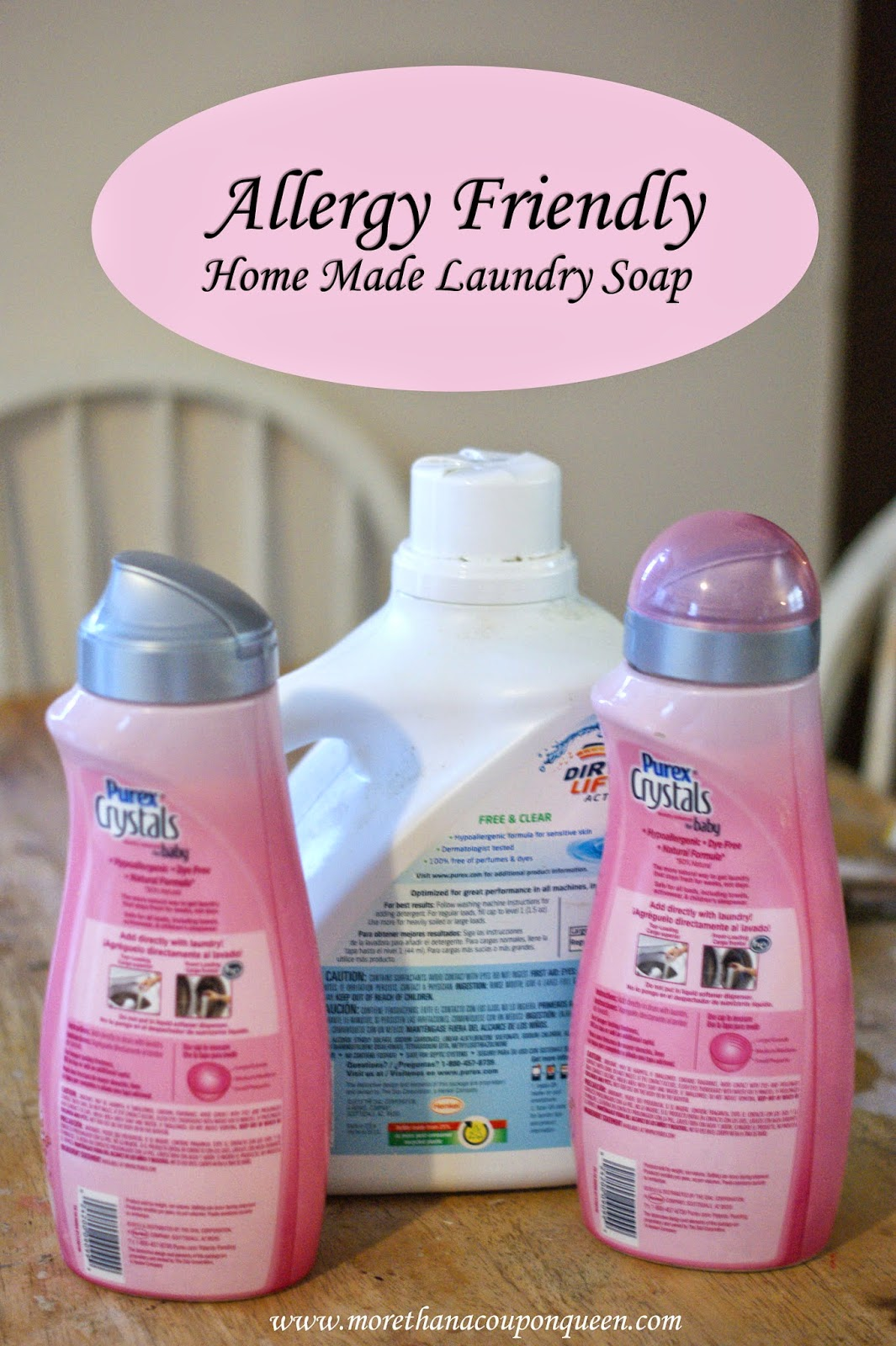Allergy Friendly Home Made Laundry Soap