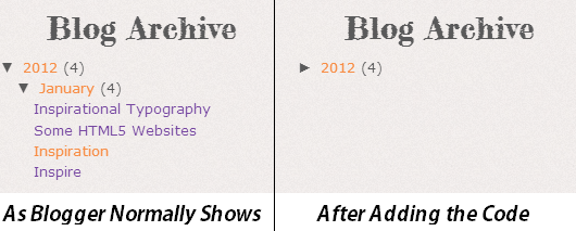 blog archive widget hack