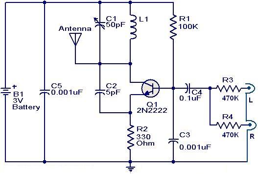 am fm transistor radio circuit diagram images circuit diagram schematic amp wiring diagram fm transmitter circuit using 2n2222