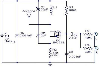 FM transmitter circuit using 2N2222