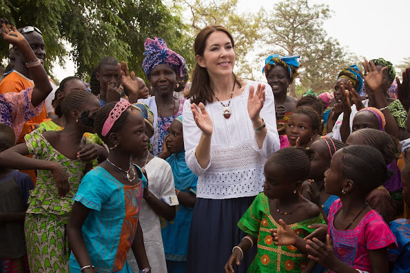 Crown Princess Mary of Denmark visits to Senegal with organizations Orchid Project and Tosta from November 11 to 15.