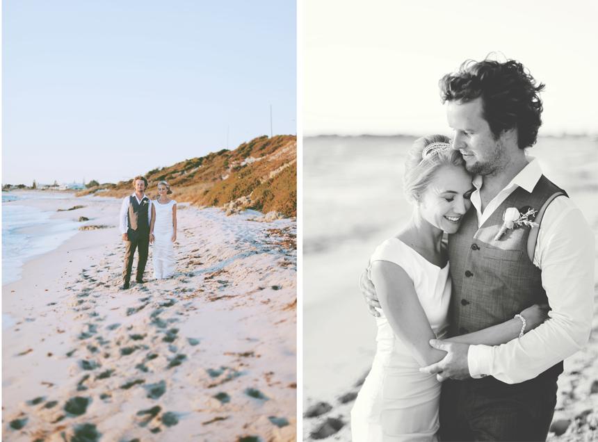 perth beach wedding photography