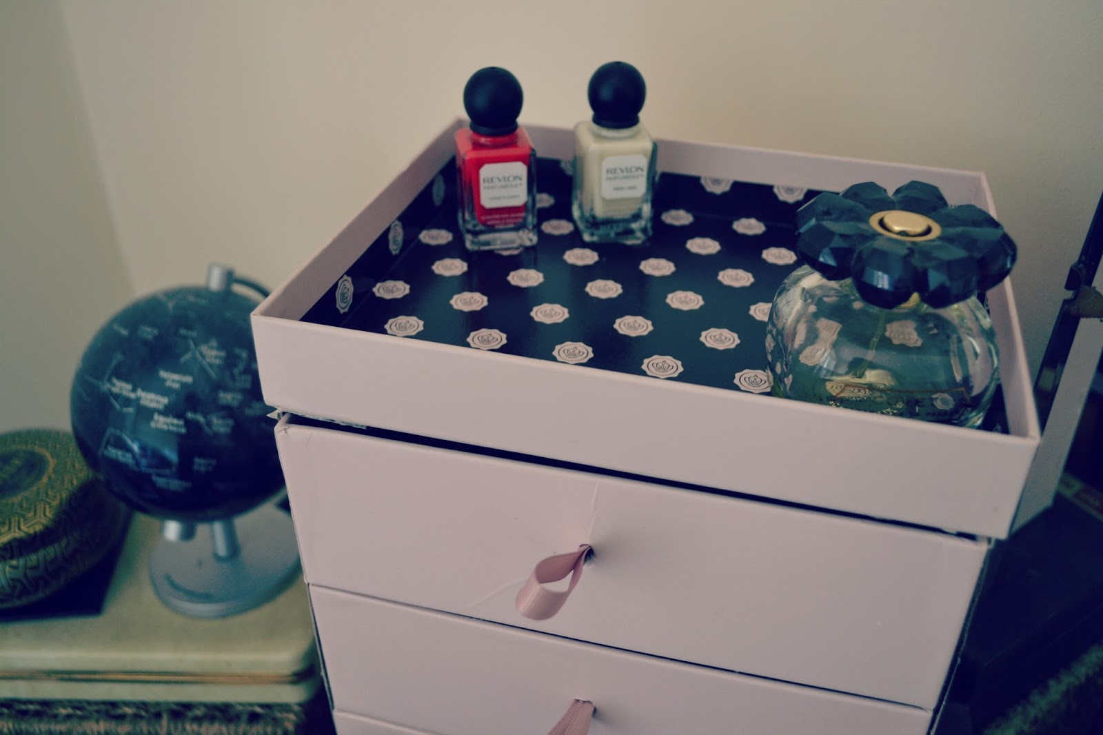Glossybox storage chest revlone parfumerie polish SJP covet fragrance