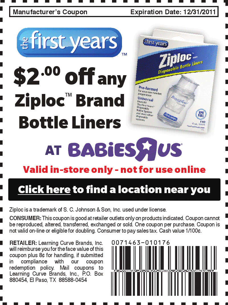 Baby bottle coupons