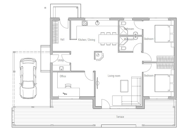 Affordable home plans affordable home plan ch23 Affordable floor plans