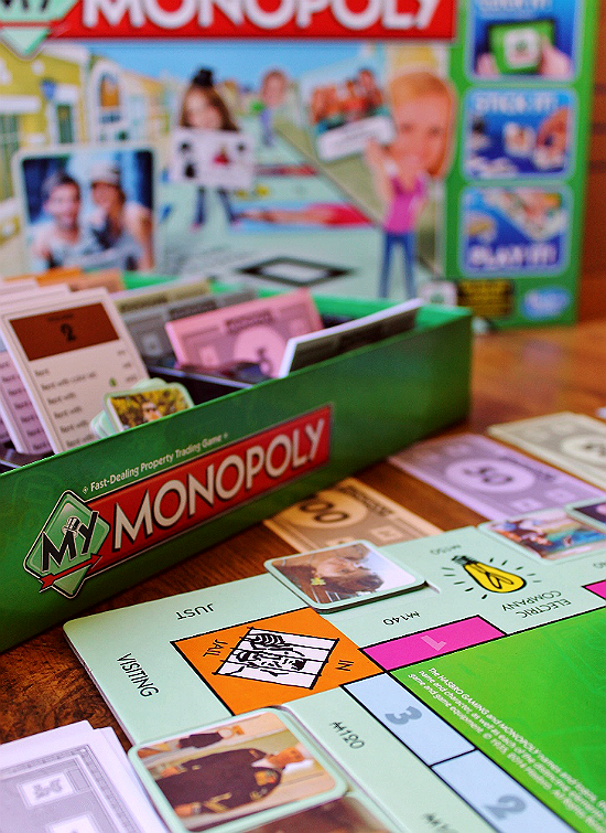 My Monopoly allows players to print and stick photo tiles on a custom game board.