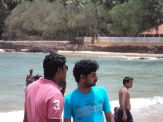 Arun In Goa with friend