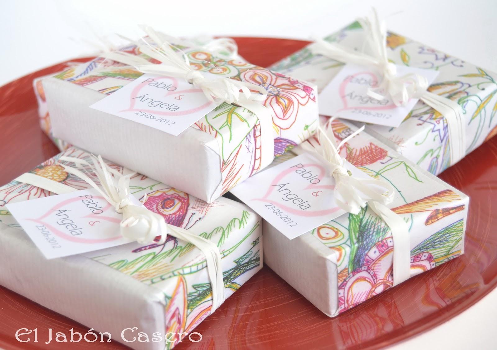 El jab n casero jabones de aceite de oliva regalos de boda - Detalles para los invitados de boda ...