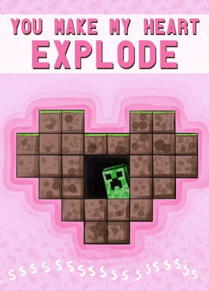 Techno Reviews Minecraft Valentine Cards Minecraft Card Ebay