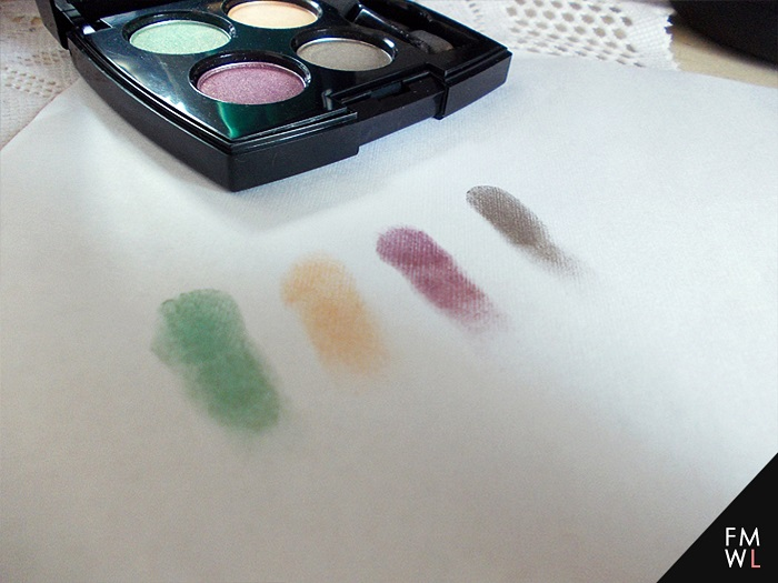 Fanny Serrano Eyeshadow Quad in Forest Swatches