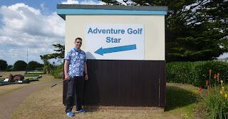 Photo of Adventure Golf 'Star' Richard Gottfried in Littlehampton