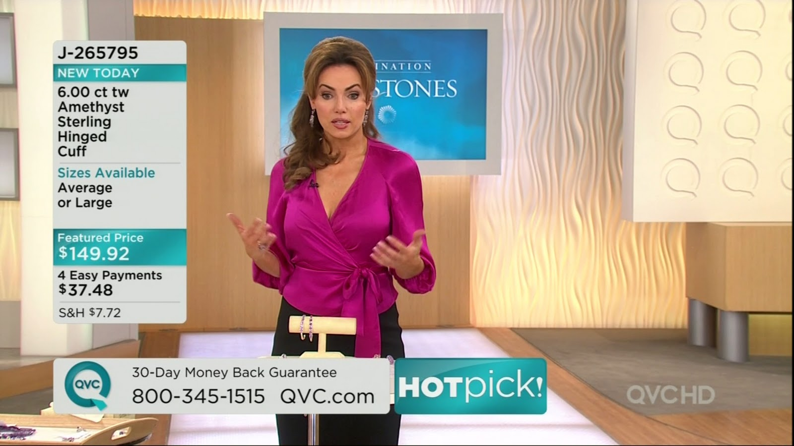 Ladies in Satin Blouses: Lisa Robertson - magenta satin blouse