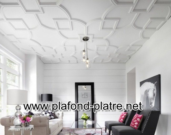 Fantastique artisanat d coration moderne de faux plafonds for Faux plafond blanc