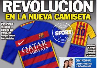 Le nouveau maillot de Barcelone fait polémique