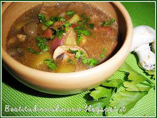 zuppa di porcini e patate