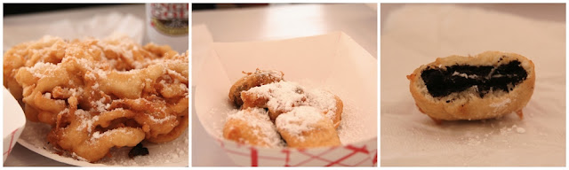 funnel cake and deep fried Oreos. Nom Nom Nom