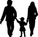 imagem e desenho de pais e crianças