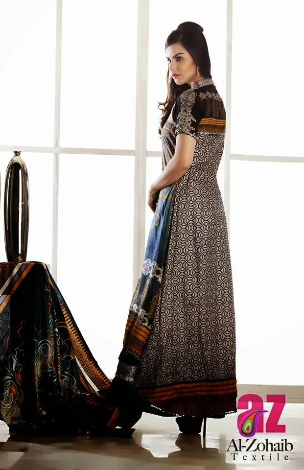 Extra Long Printed Lawn Frock Dresses