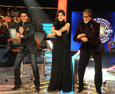 Shahrukh Khan & Katrina kaif on the sets of KBC 6