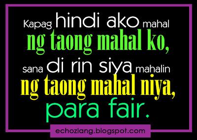 Kapag hindi ako mahal ng taong mahal ko