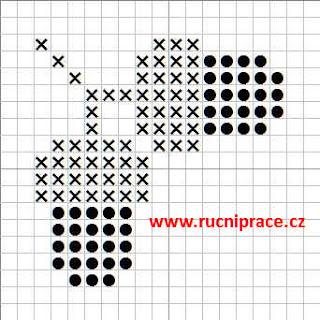 Вышивка крестом желудь схема 92
