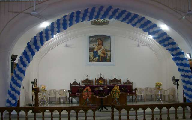 Inside view of Devicode Church