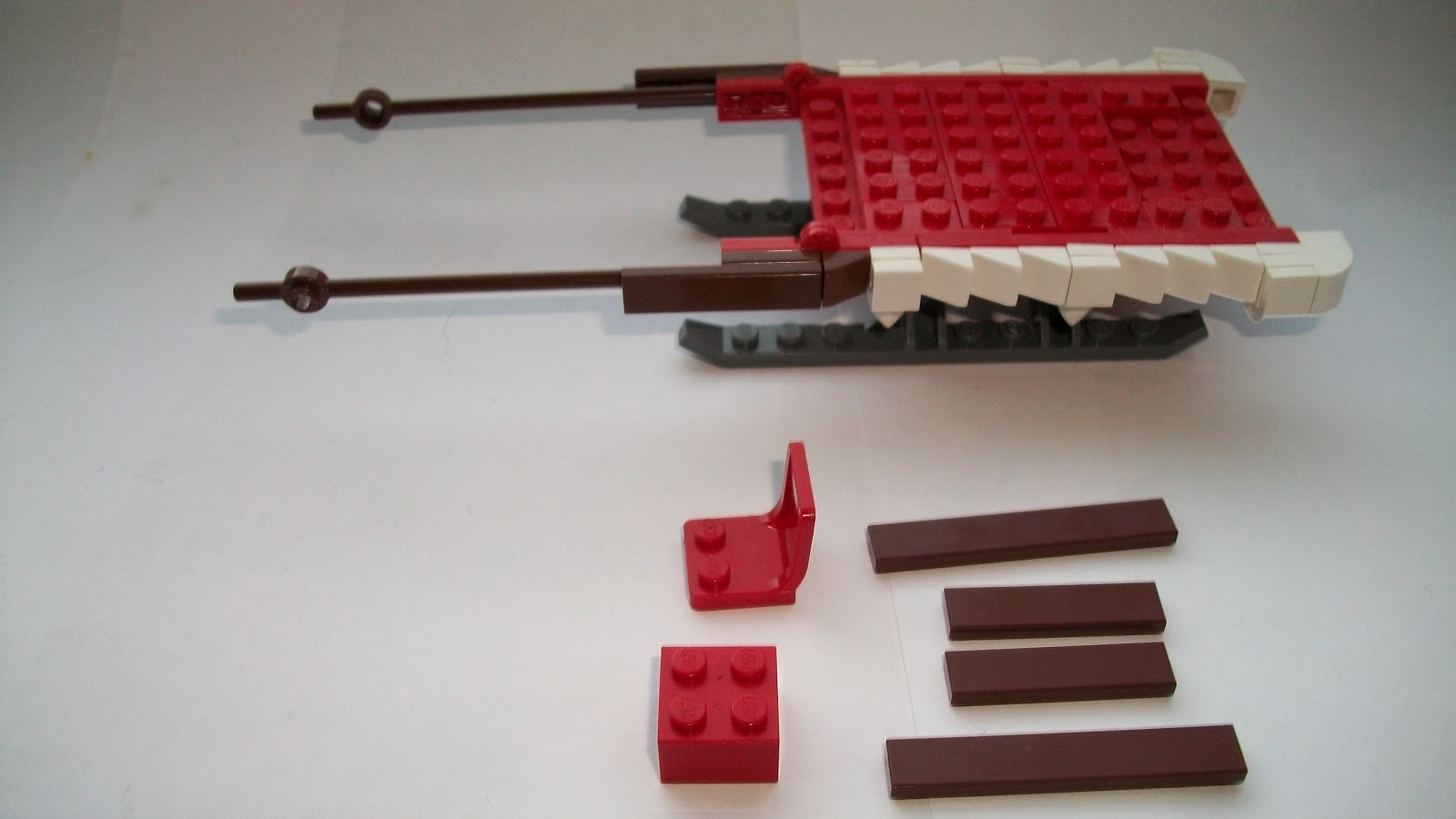 how to build a lego santa sleigh