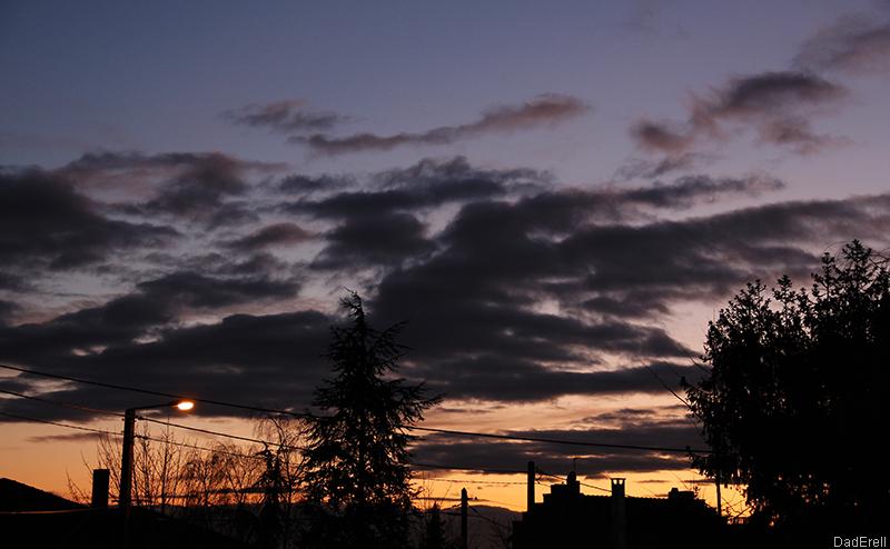 Crépuscule en hiver