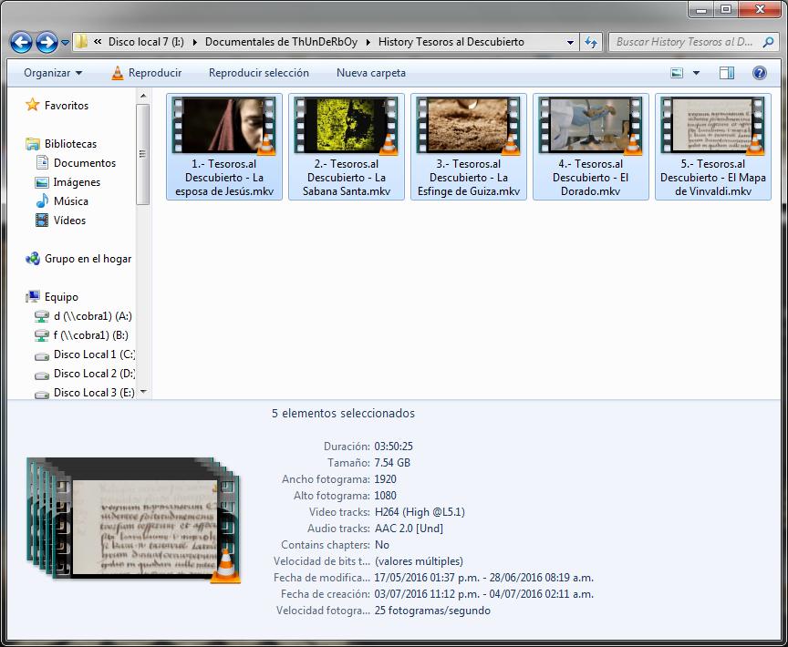 7GB|Tesoros al Descubierto|5-5|FullHD 1080p|Mega