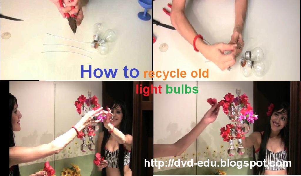 Video panduan membuat vas bunga menggunakan lampu bohlam bekas pakai