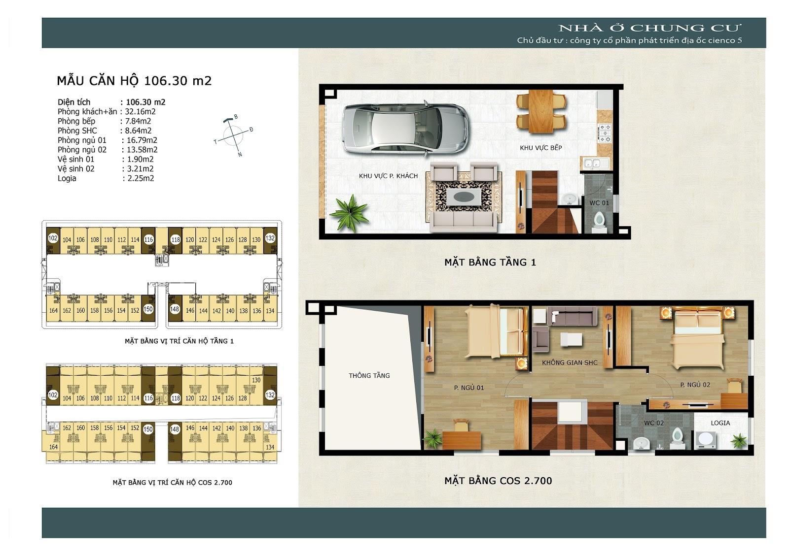 Căn góc tầng 1 - Thanh Hà Cienco 5