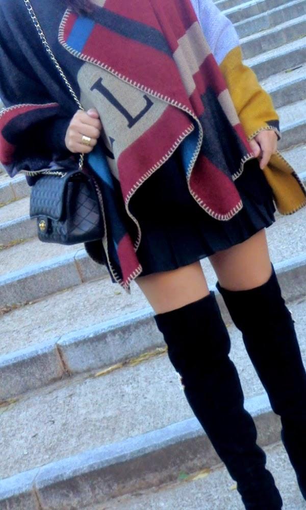 poncho manta de moda