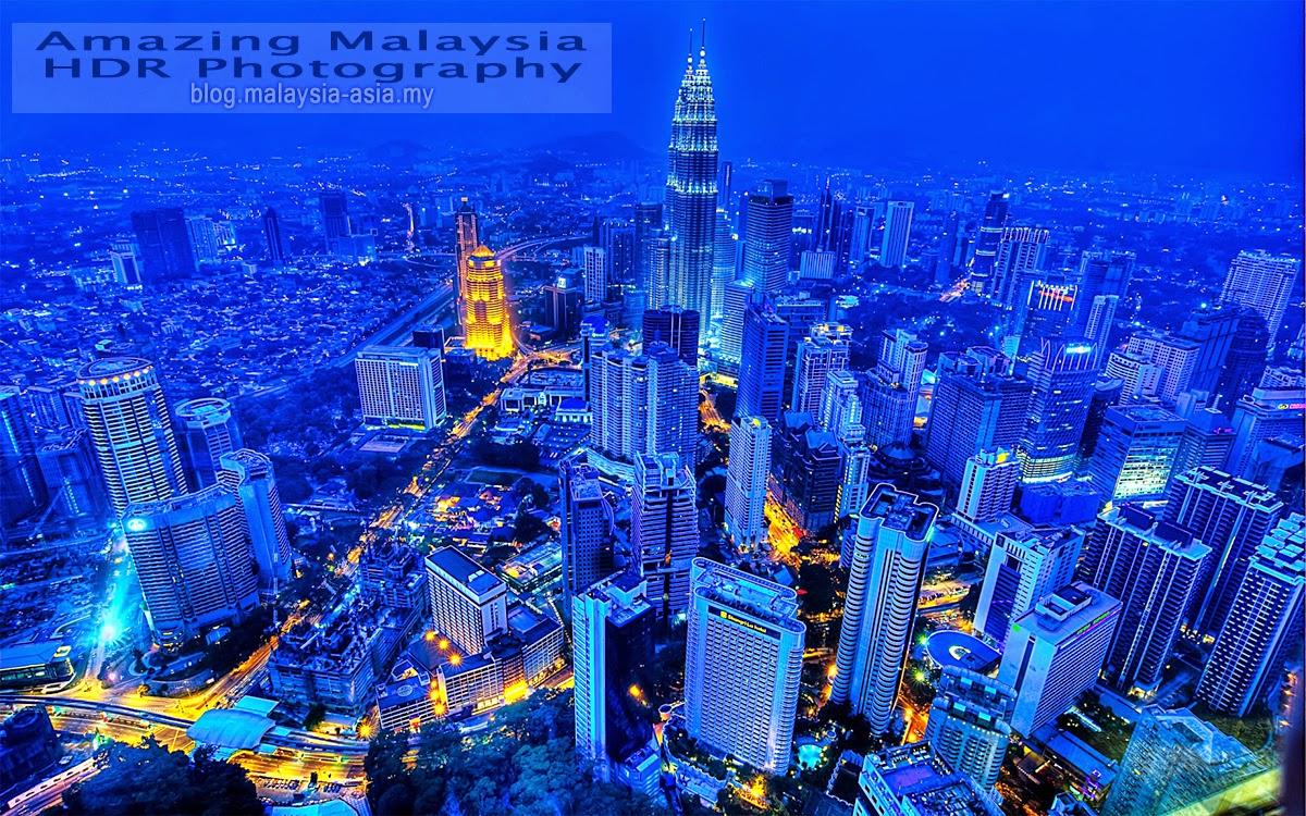 Kuala Lumpur Malaysia Blue HDR Photography