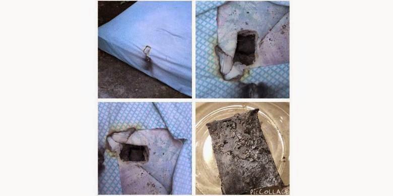 LG G3 Meledak Sampai Melubangi Ranjang
