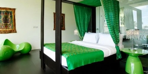 romantic green bedroom interior design