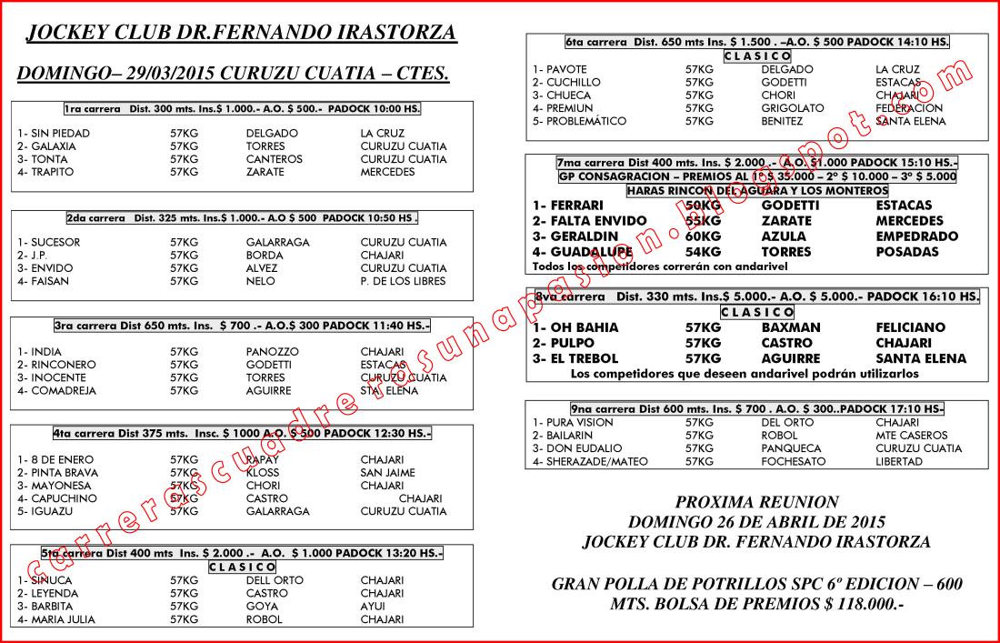 C. CUATIA - PROGRAMA - 29.03.2015